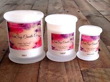 1 Scented 100% Natural Soy Wax Candle 30 60 hour burn GLASS JAR CANDLES Gift Box