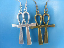 Vintage Ankh Cross Charm Dangle Earring Charming Drop Earring Bijoux Accessoires