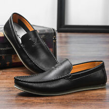 Genuine Leather Loafer  Casual Men Flats Shoes Comfy European Oxfords Boat Shoes