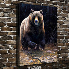 HD Canvas Print Home decoration Wall pictures Art Brown Bear 18''X24''
