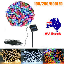 100/200/500LED String Solar/Electric Fairy Lights Garden Party Christmas Outdoor