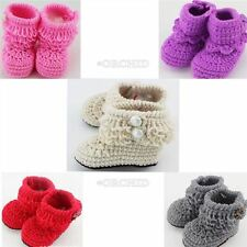 Soft Warm Socks Crochet Shoes Newborn Knit Boots Infant Crib Casual Baby Girl Q