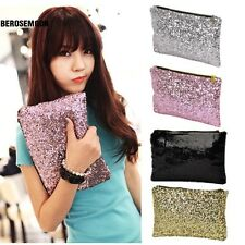 New Fashion Style Women's Sparkle Spangle Clutch Evening Bag Wallet B0N06