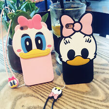 3D Cute Daisy Duck Soft Silicone Case Cover Back Skin For iPhone 5 SE 6s Plus