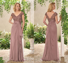 Lace Appliques Bridesmaid Evening Dresses Long Chiffon Formal Party Gowns HD306