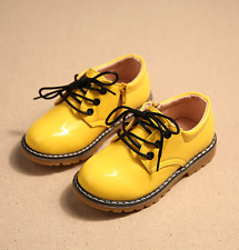New Baby Leather Shoes Toddler Boys Girls Children kids Lace Up Martin Boots