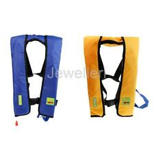 Adult Manual Inflatable Life Jacket Vest PFD 150N/275N Buoyancy Blue/Yellow