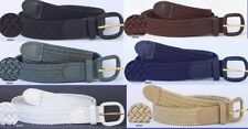 "Men Woman Woven Braided Elastic Stretch Golf Belt 1.25"" Wholesale 27 Colors 7001"
