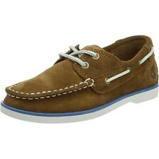 Timberland Seabury Classic Youth Medium Brown Suede Boat Shoes
