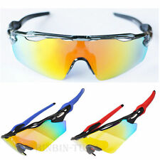 Outdoor Sport Cycling Bicycle Bike Riding UV Sun Glasses Eyewear Goggle 5 Lens