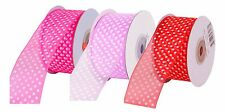 Buy 3 get 1 Free - Mother's Day special 10mm Spotty Polka Dot ORGANZA Ribbon 10m