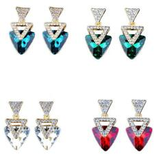 Fashion Dangle Earrings Geometry Triangle Austrian Crystal Earrings Women Gifts