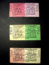 various rare IMR Isle of Man Railway Excursion/Conducted Tour tickets 1900s on