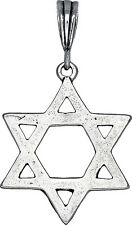 Sterling Silver Jewish Charm Star of David Pendant Necklace Antique Finish
