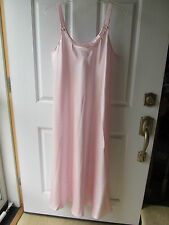 Oscar De La Renta Pink Label Pink Satiny Long Nightgown Size XL