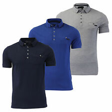 Mens Short Sleeved Collared Dissident 'Dunraven' Polo T-Shirt Top ALL SIZES