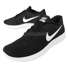 Nike Free RN Run Black White Mens Running Shoes Trainers Sneakers 831508-001