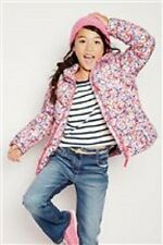BNWT Next Girls Pink & Blue Butterfly Padded Jacket Coat 5-6-7-8-9-10-11 Years