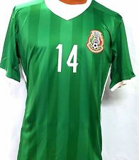 New! Green Jersey Chicharito  #14 Mexico Home Soccer Jersey