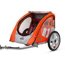 NEW Bike Trailer InStep 2 Seat Child Bicycle Carrier Stroller Cart Folding Berry
