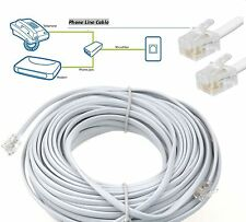 RJ11 to RJ11 Router Cable ADSL BT Broadband Modem Internet High Speed Phone Lead