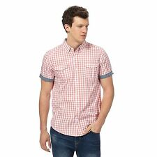 Red Herring Mens Pink Gingham Checked Shirt From Debenhams