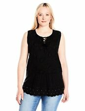 Lucky Brand Women's Plus SZ Washed Studded Tank Top - Choose SZ/Color