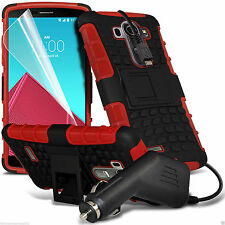 Shock Proof Heavy Duty Builders Dual Layer Case Cover+In Car Charger✔Red