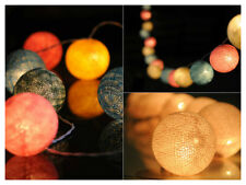 cotton ball string light party wedding decoration hanging light mix color