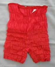 Pettipants mid length L square dance lace red NEW size Large mid-thigh