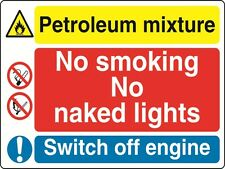 PETROLEUM MIXTURE NO SMOKING - health and safety warning Sign - MULTI032 sticker
