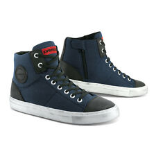 All New!! Dririder Urban Canvas Leather Motorcycle Boots Navy Sizes 39 - 46