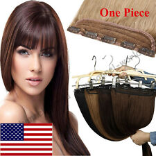 Deluxe Clip in Remy Human Hair Extensions One Piece Weft 45g-100g Full Head B306