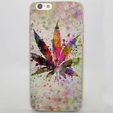 Weed Leaves Trippy Weed Leaf Hard Case Cover Coque For iPhone Samsung Huawei