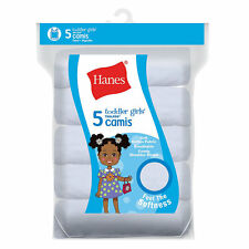 Hanes Ultimate™ TAGLESS® Cotton Stretch Toddler Girls' Cami White 5-Pack TV30P5