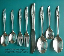 MAGIC ROSE BuY the Piece 1847 Rogers 1963 International Silverplate Flatware
