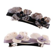 Girl Ladies Acetate Flower Spring Large Hair Clip Pin Barrette Hair Accessories