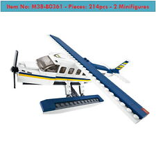 SimCity-Airplane Series -Seaplane Water Aircraft-214p-2figures-DIY Kid Toys-Lego