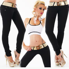 Womens NEW Super Skinny Black Ripped Denim Pants Sexy Low Rise Size 6 8 10 12 14