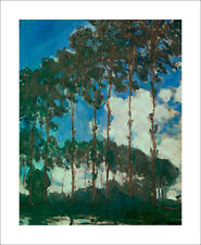 Monet - Poplars on the Epte trees - fine art print poster - various sizes