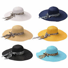 Hot Fashion Sweet Girls Floppy Straw Hat Wide Brim Summer Beach Bohemia sun hat