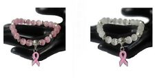 Breast Cancer Awareness Pink Ribbon Bracelet  -  £1 Donated to Cancer Research