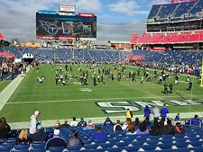 Tennessee Titans vs Carolina Panthers (2) Tickets LOWER LEVEL 125 Nissan 8/19