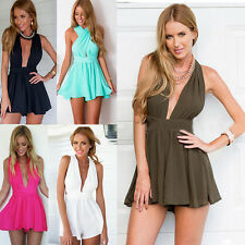 Women Ladies Summer Romper Backless Jumpsuit Clubwear Party Playsuit Shorts