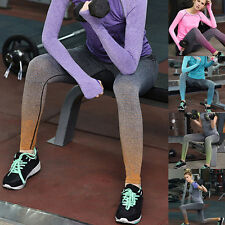 Super Womens Thermal Base Layer Compression Tights Fitness Pants Running Gym HOT