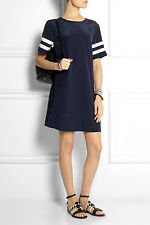 NWT £170 Designer J Crew Collection Stripe Sleeve SILK Dress UK 6-18 French Navy