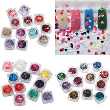 12pcs/set Nail Sequins Shiny Tips Manicure DIY Nail Art Decoration Tips