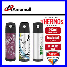 New Thermos Stainless Steel Vacuum Insulated Hydration Bottle 530ml-3 Designs
