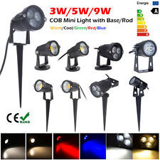 3W 5W 9W LED Outdoor Landscape Garden Wall Yard Path Flood Spot Light w/ Rod