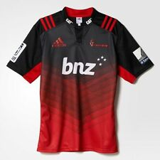 adidas Performance CRUSADERS HOME MEN'S RUGBY JERSEY Black/Scarlet-XL,2XL Or 3XL